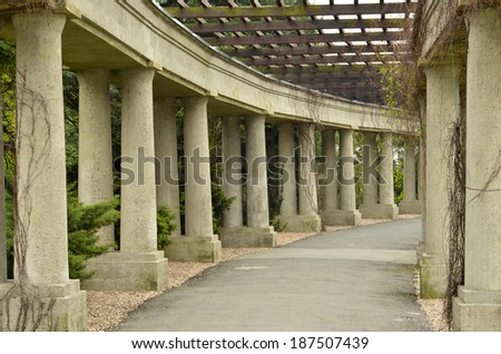 Garden archway - pergola, Wroclaw, Poland  - stock photo