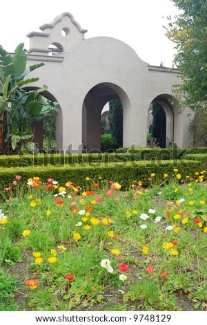 Garden; Balboa Park; San Diego, California - stock photo