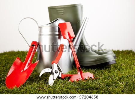 Garden boots with tool