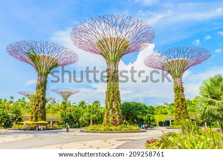 Garden by the bay at singapore - stock photo