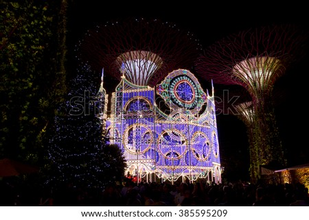 Garden By The Bay Event event january singapore stock images, royalty-free images