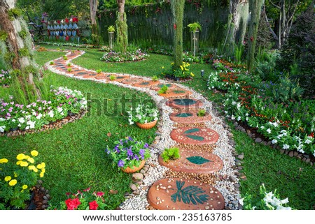 Garden Design Landscape Stock Photos Royalty Free Images
