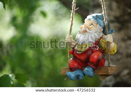 garden dwarf - stock photo