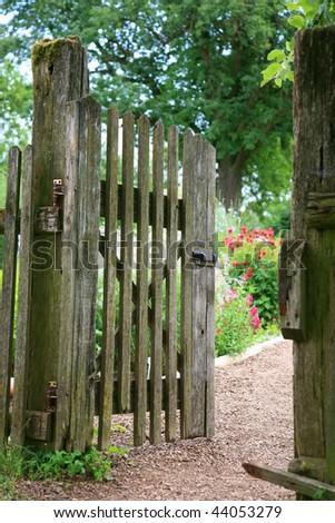 Garden entrance - stock photo