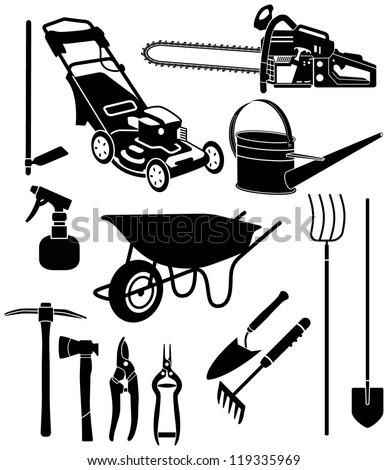 garden equipment 3 - stock photo