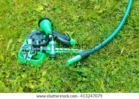 garden hose with nozzle