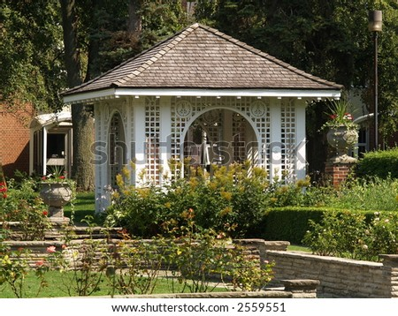 garden house - stock photo