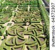Garden in Villandry, France - stock photo