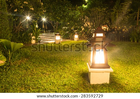 Garden Lamps Stock Photos Royalty Free Images Vectors