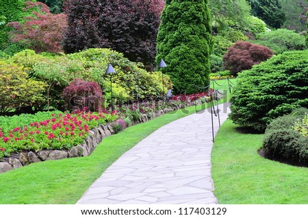 Garden landscape - stock photo