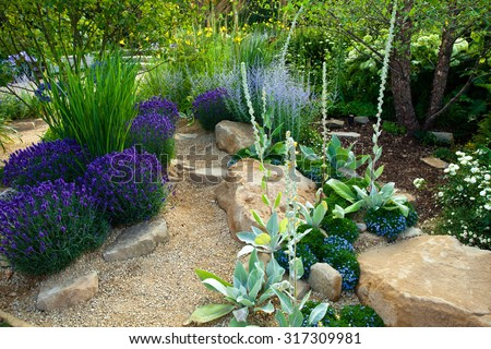 Landscape Garden Stock Images RoyaltyFree Images Vectors - Landscape gardens