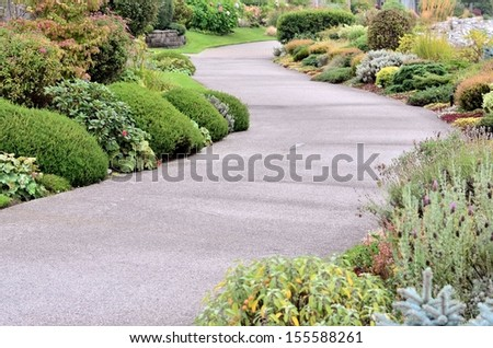 Garden landscaping - stock photo