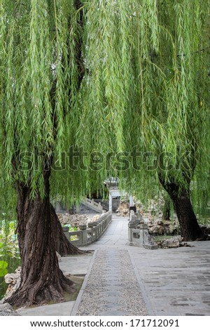 Garden of harmonious interests in Summer palace, Beijing, China - stock photo