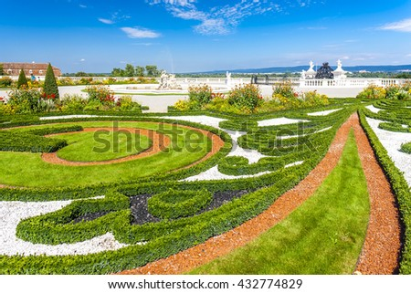 garden of Hof Palace, Lower Austria, Austria
