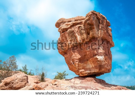 garden of the gods park, colorado springs, colorado - stock photo