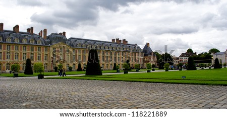 Garden of the Palace of Fontainebleau, one of the largest French royal chaÃ?Â??teaux.