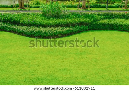 Grassy plot stock images royalty free images vectors for Formally designed lawn