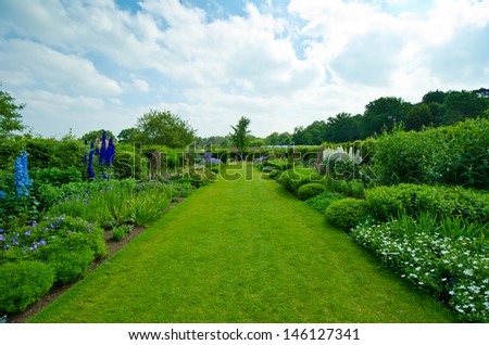 garden path - stock photo