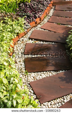 garden pathway - stock photo