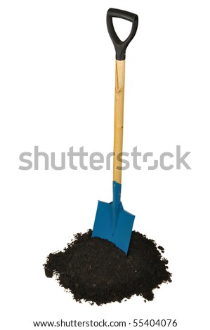 Garden spade isolated on white background