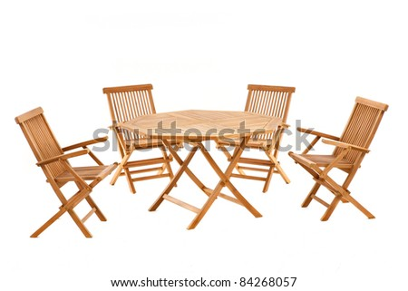 garden table and chairs - stock photo