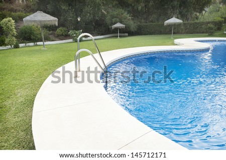 Garden with water transparent. - stock photo