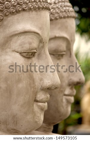 Garden Zen Statue fountain - stock photo