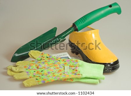 gardening accessories for gardeners and designers. - stock photo