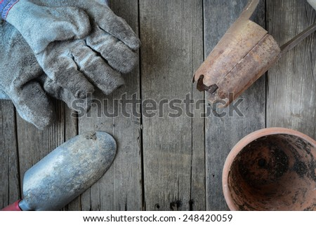 Gardening Background for Planting Flowers - stock photo