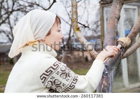 Gardening in spring - stock photo