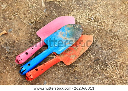 Gardening shovels - stock photo