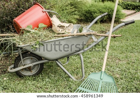 Common Garden Hand Tools Of Midrib Stock Images Royalty Free Images Vectors