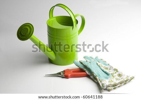 Gardening tools, isolated on white