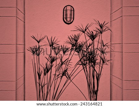 gardening with lighten on paper background - stock photo