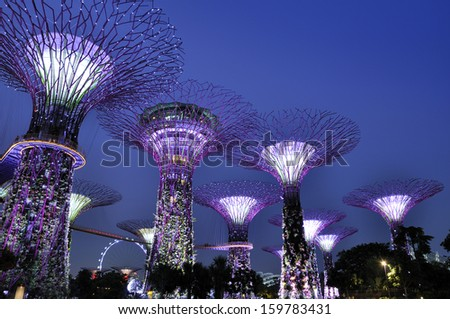 Garden By The Bay Mrt singapore station stock images, royalty-free images & vectors