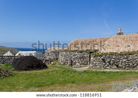 Garenin is a crofting township found on the west coast of the Isle of Lewis in the Outer Hebrides of Scotland. - stock photo