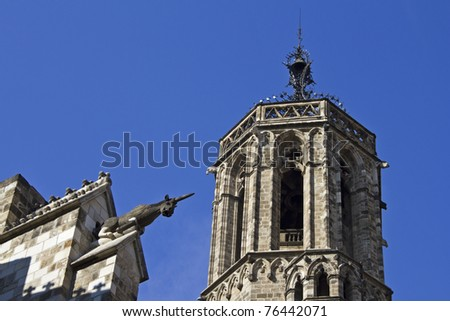 gargoyle and steeple