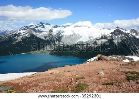 Garibaldi Lake, Castle Towers And The Sphinx (Coast Mountains, BC, Canada) - stock photo