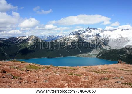 Garibaldi Lake (Garibaldi Provincial Park, Coast Mountains, British Columbia, Canada) - stock photo