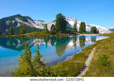 Garibaldi peak. Elfin lake. Provincial park, British Columbia, Canada - stock photo