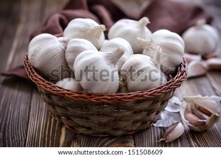 Garlic - stock photo