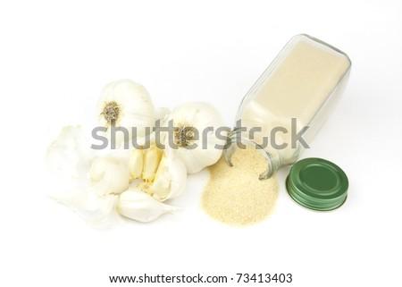 Garlic and Powder - stock photo