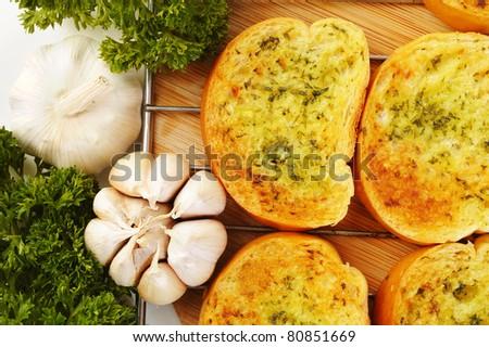 Garlic bread - stock photo