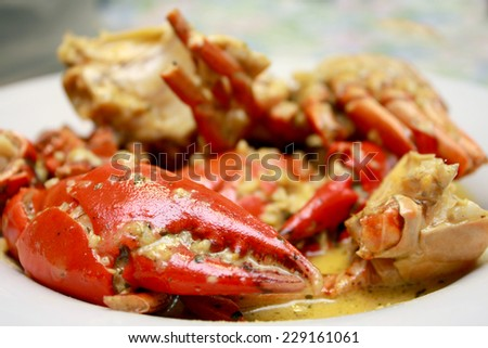 Garlic Butter Crab  - stock photo