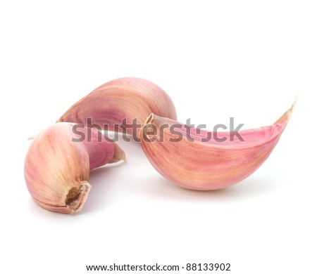 Garlic clove isolated on white background