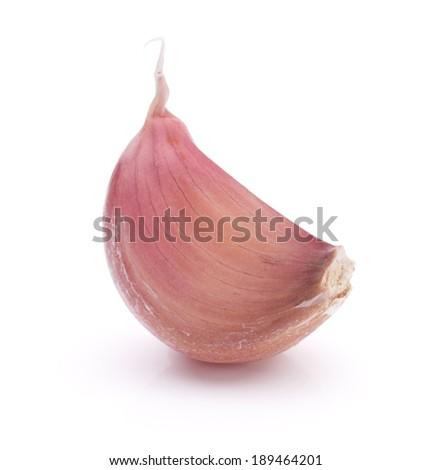 Garlic clove isolated on white background cutout - stock photo