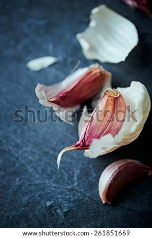 Garlic Cloves - stock photo