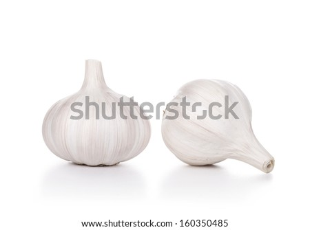 Garlic, isolated on white - stock photo