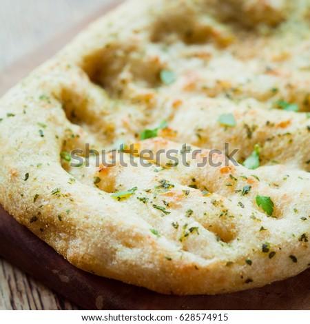 Garlic Naan Indian Flat Bread