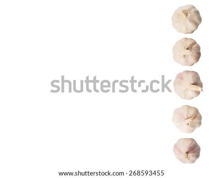 Garlic over white background - stock photo